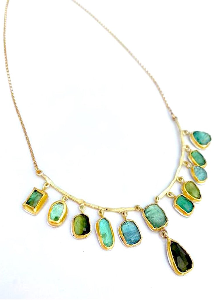 Jessica Weiss Studio | Gold + Rose-Cut Tourmaline Necklace