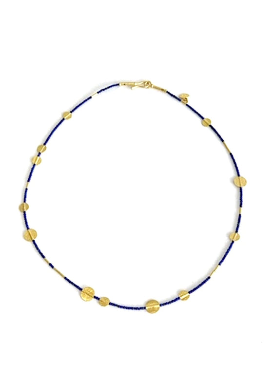Ara | Lapis + 24K Gold Necklace