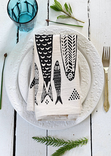 Hearth & Harrow | Tea Towel | Sardines