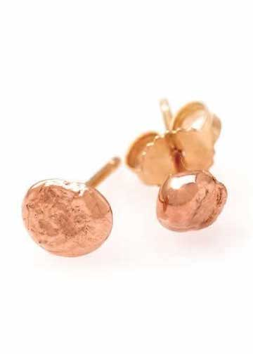 Heorth | Seed Stud Earrings | Medium 14K Rose Gold