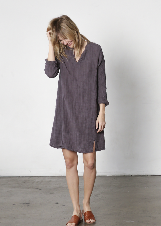 It Is Well | Split Neck Dress | Modeled