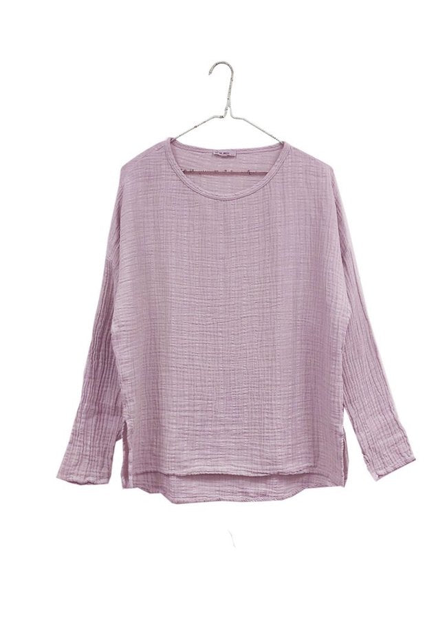 It Is Well | Long Sleeve Gauze Top | Lilac