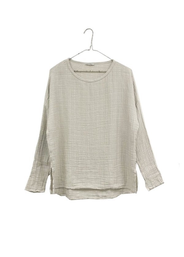 It Is Well | Long Sleeve Gauze Top | Natural