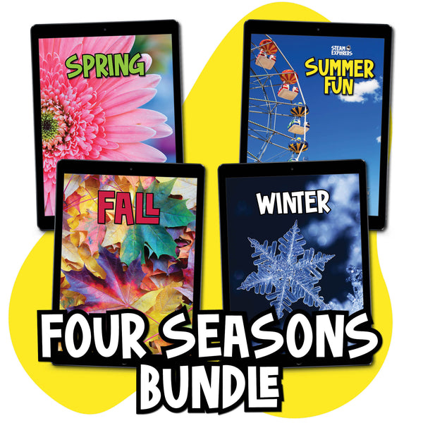 Four Seasons Ebook Bundle (Spring, Summer Fun, Fall, Winter) by STEAM Explorers