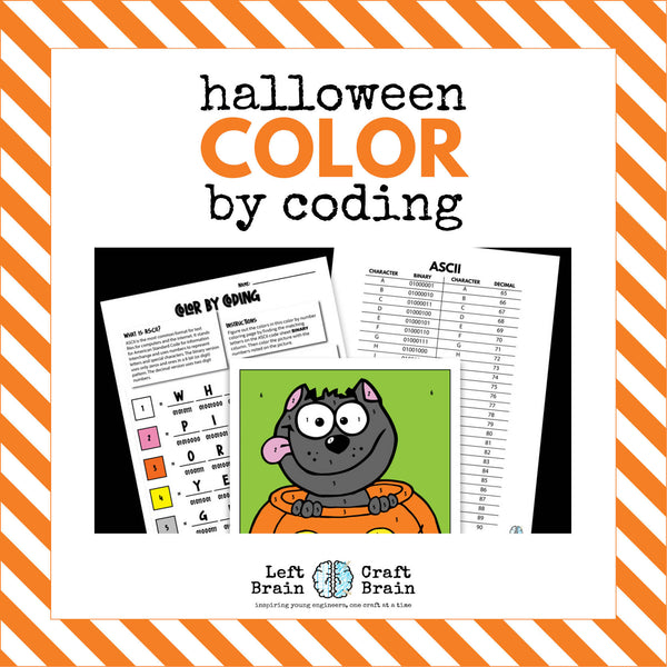 Halloween Color by Coding Coloring Page
