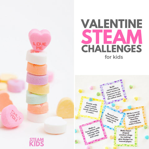 Valentine's Day STEAM Challenge Cards