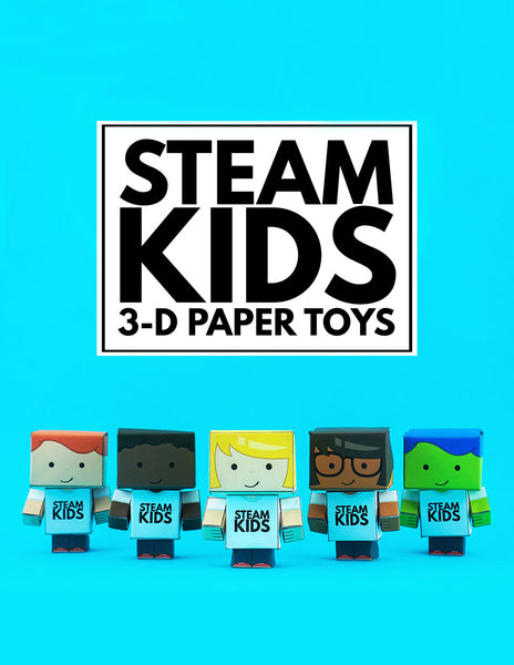 STEAM Kids 3-D Paper Toys and Bots EBook