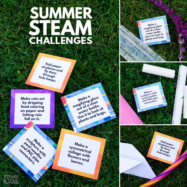 Summer STEAM Challenge Cards