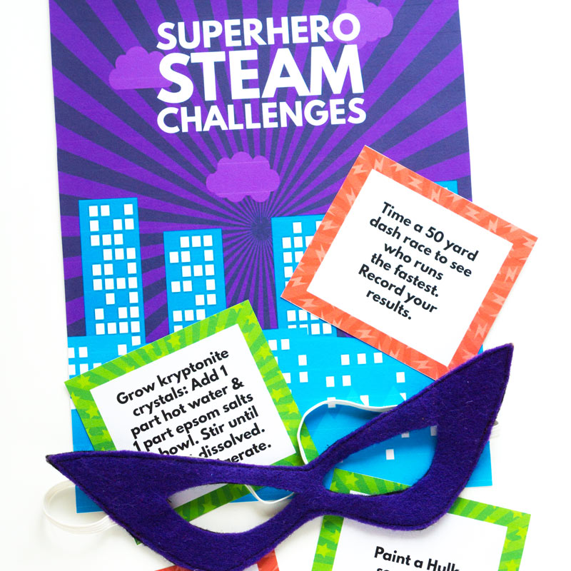 Superhero STEAM Challenge Cards