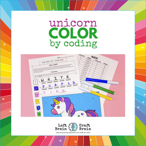 Color by Coding Unicorn Coloring Page