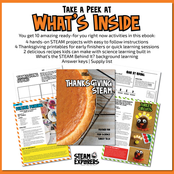 Thanksgiving STEAM Activity Ebook for Kids