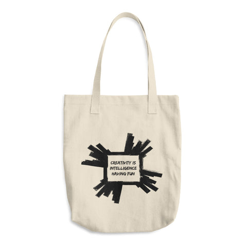 Creativity is Intelligence Having Fun Tote Bag