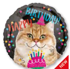 17C MET HAPPY BIRTHDAY CAT - Mucho Globo