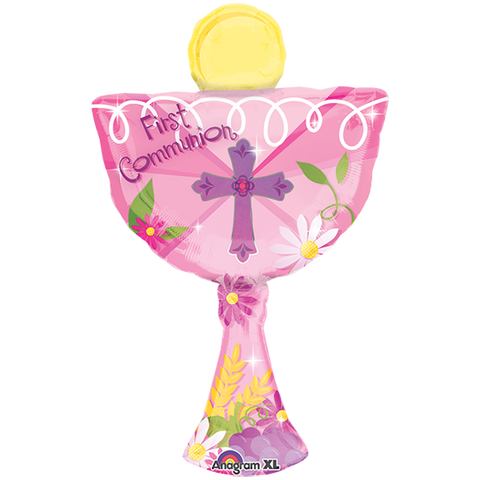 30413/02 1ST COMMUNION PINK CHALICE