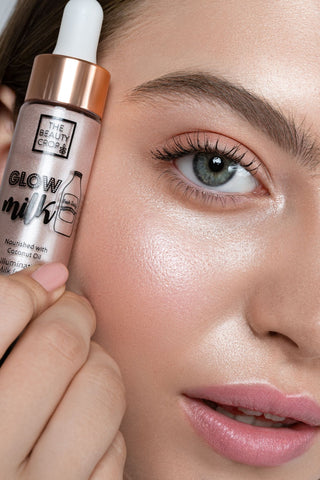 how to use glow milk on face