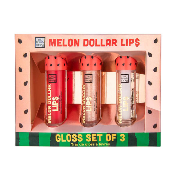 Melon Dollar Lips Lipgloss Trio