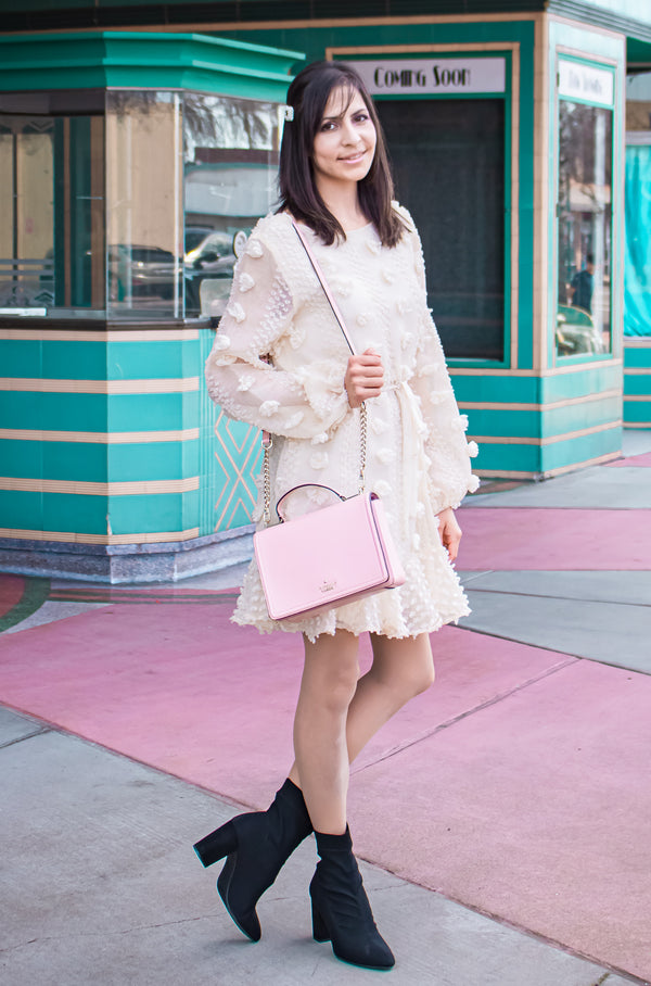 Pom Pom Ruffle Dress & The Pastel Tower Theater Aesthetic
