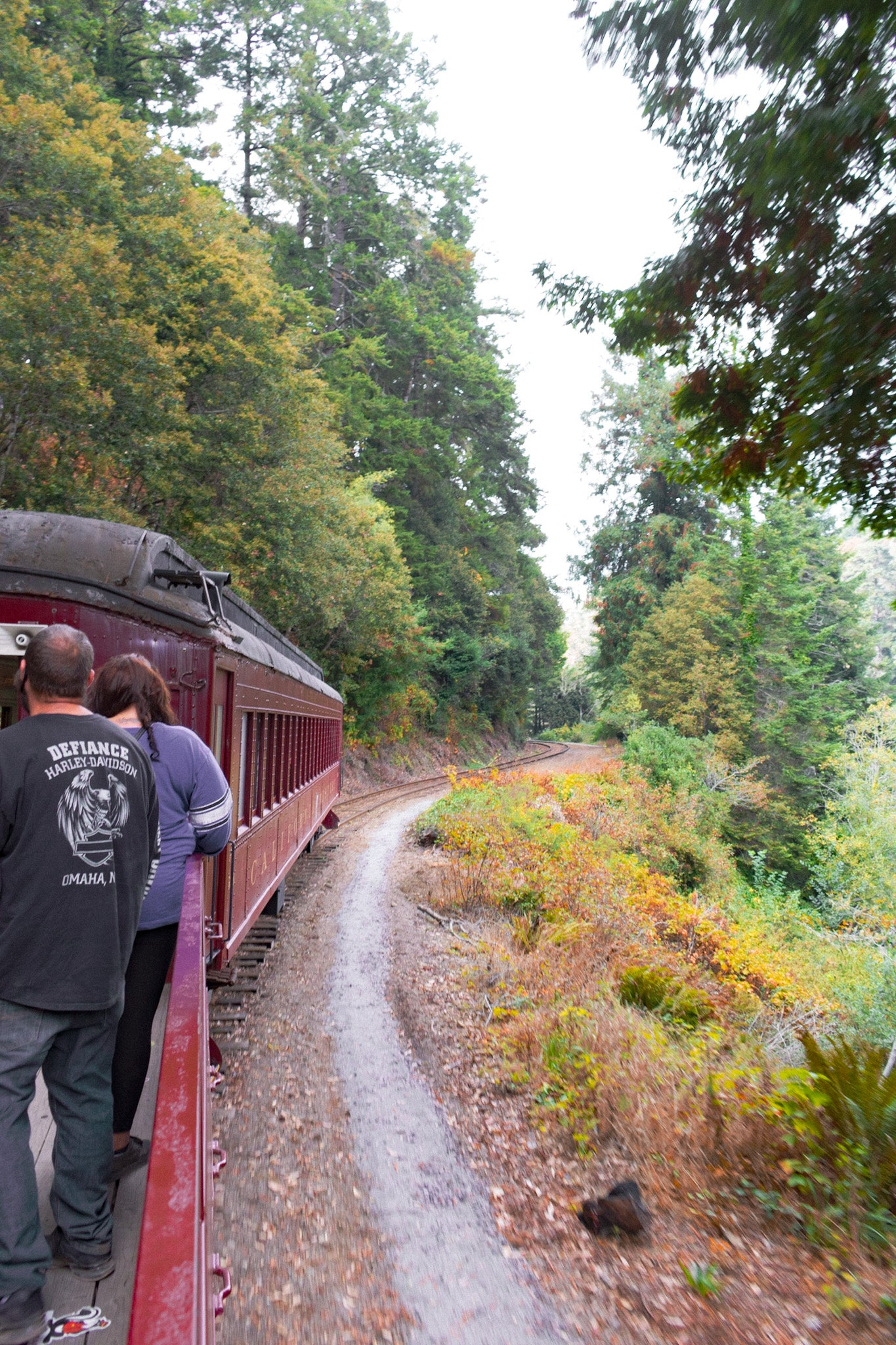 skunk train fort bragg northern California