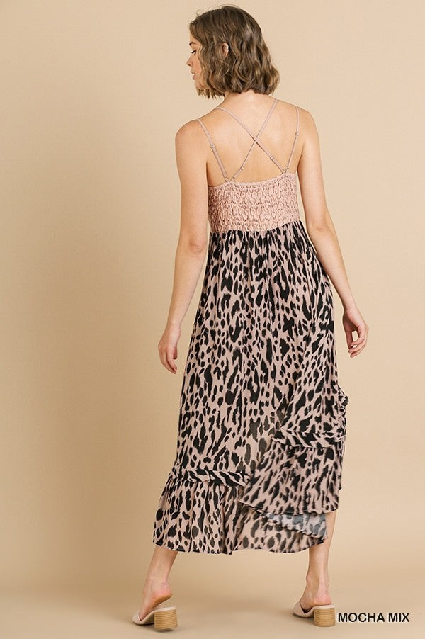 Wildest Dreams Animal Print Midi Dress