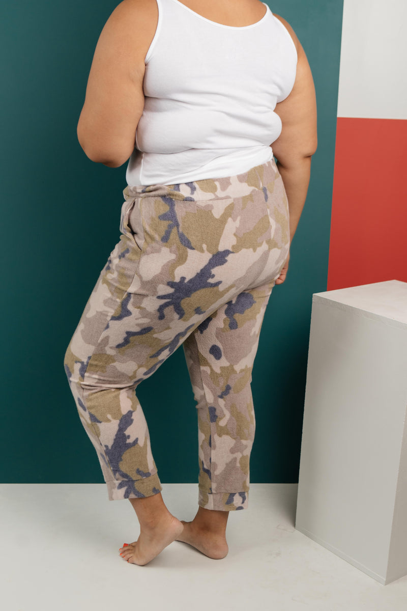 Brushed Camouflage Jogger Bottoms