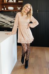 Mia Sequin Dress in Rose Gold