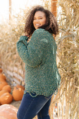 Dusted With Colors in Hunter Green Sweater