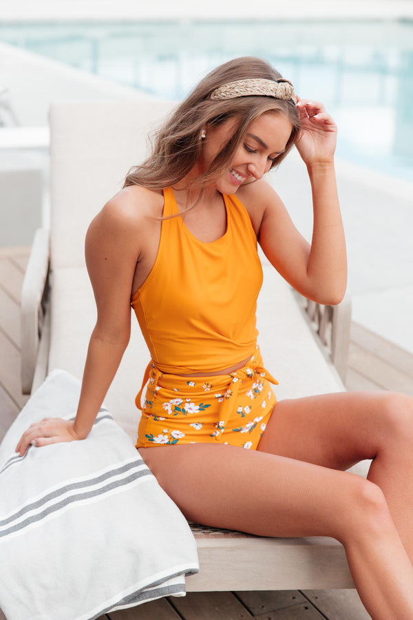 Glowing in the Sun Swim Top