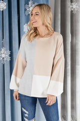Happened Upon Patterns Sweater in Taupe
