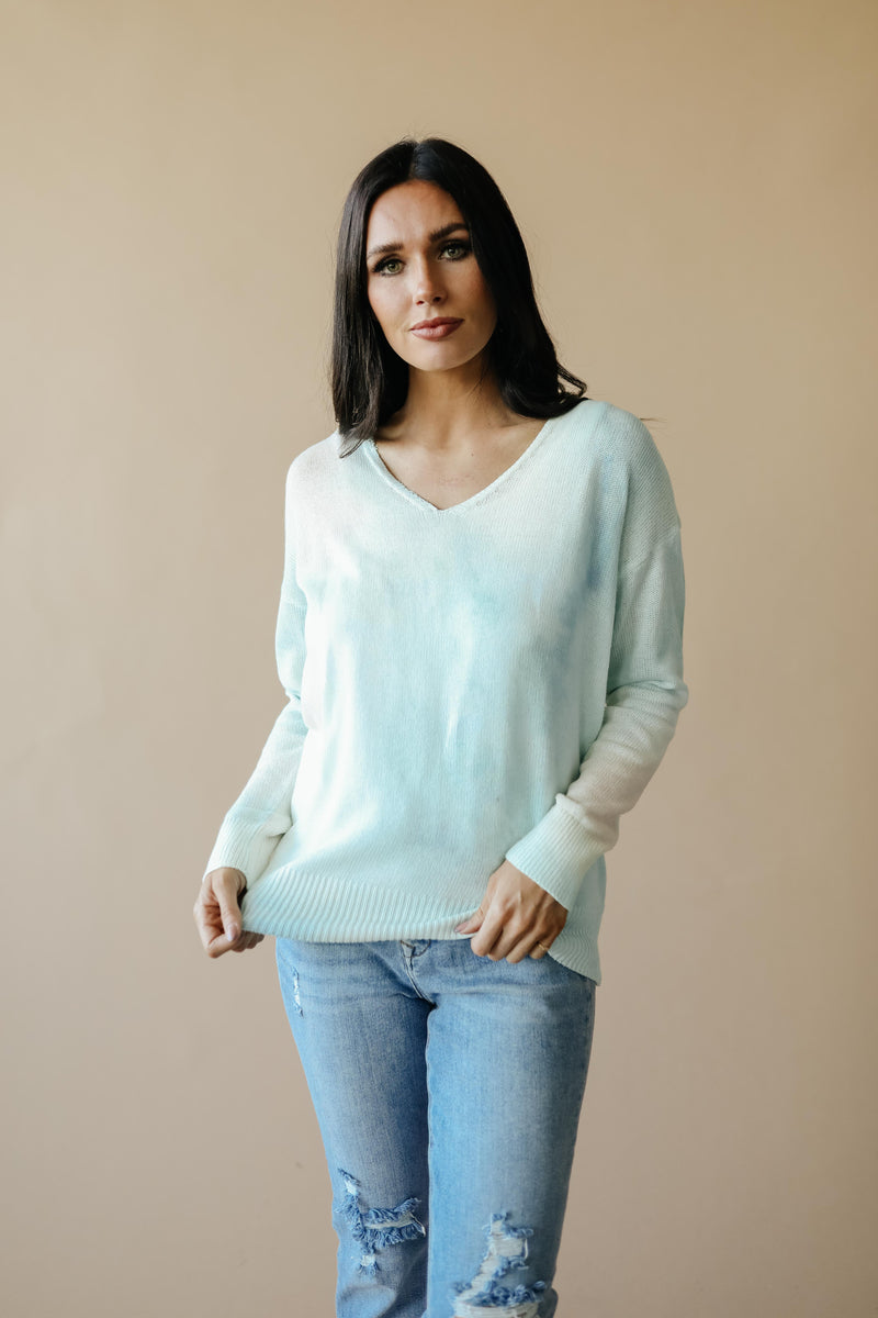 Heavenly Sweater In Pale Peach & Aqua