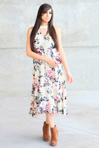 San Francisco Velvet Floral Dress