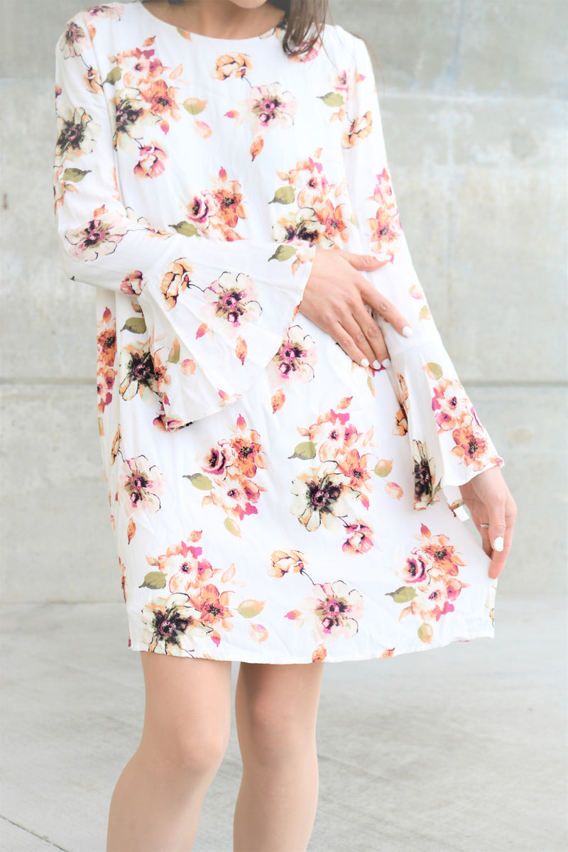 Ivory Floral Honolulu Dress