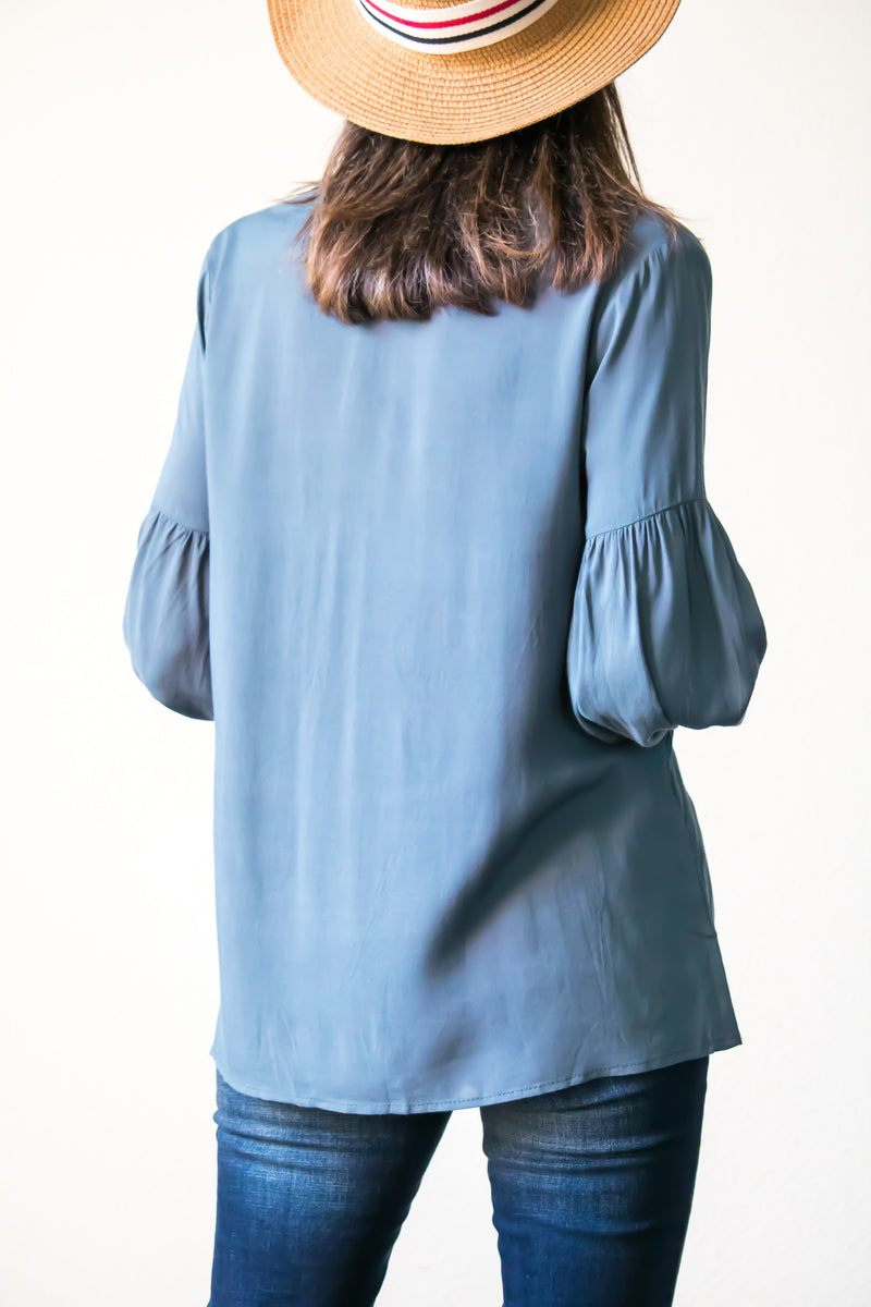 Secret Garden Embroidered Top In Jade