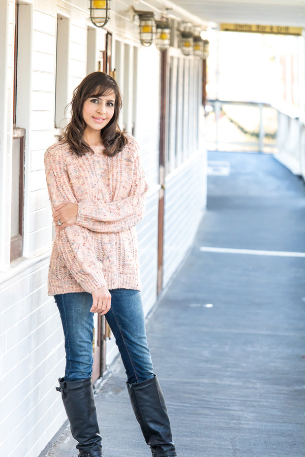 One Fine Day Sprinkles Sweater In Peach