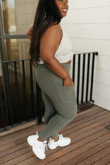 Kickin' It Leggings in Grey Sage