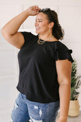 Light and Linen Top in Black
