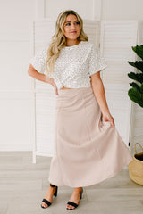 Once Upon a Time Skirt in Champagne