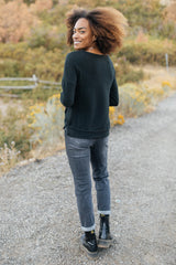 Sadie's Simple Sweater in Black