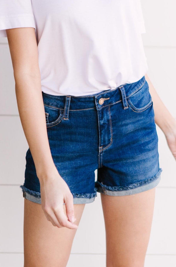 Stormy Blue Denim Shorts