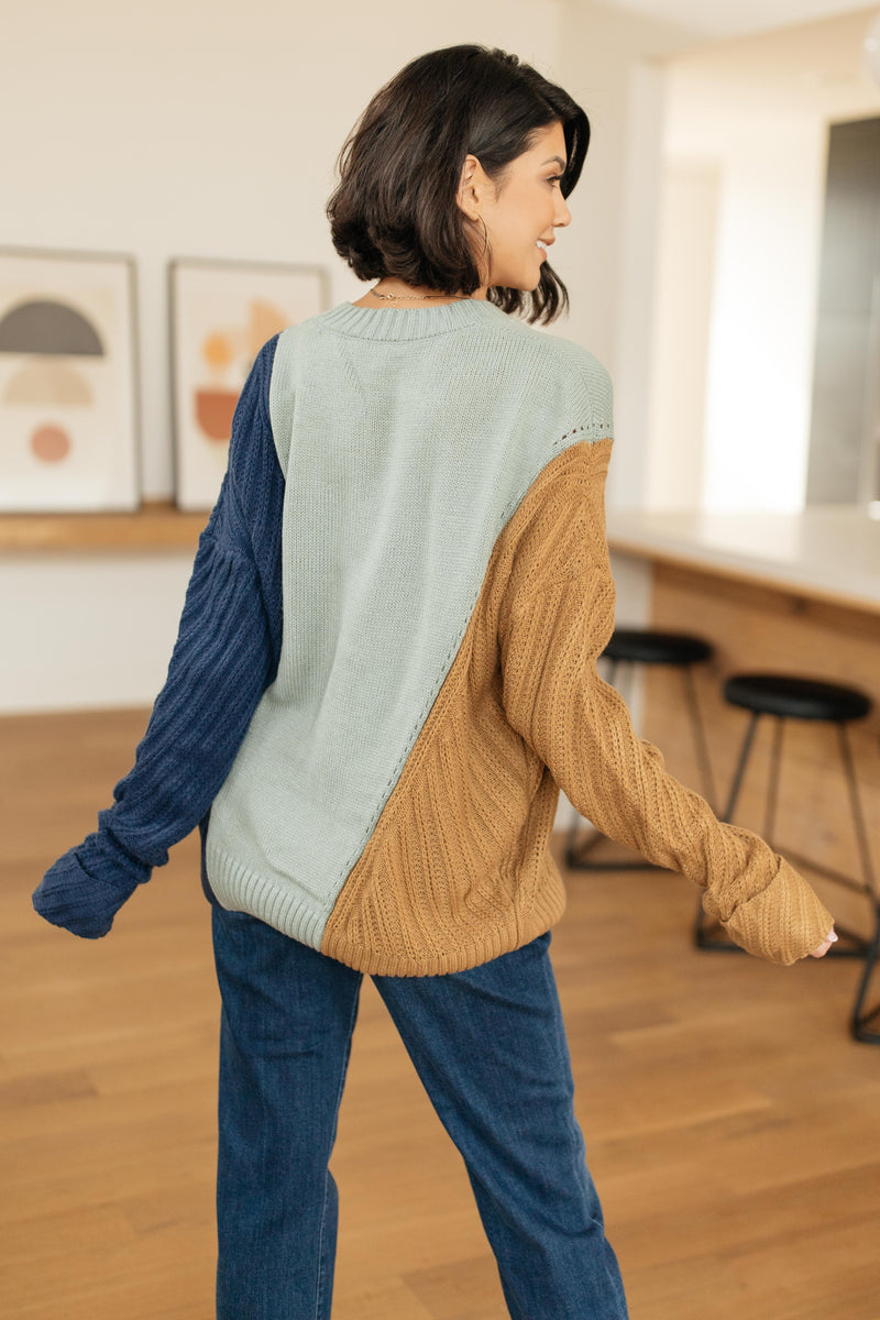 A Sweater With Colors in Mint