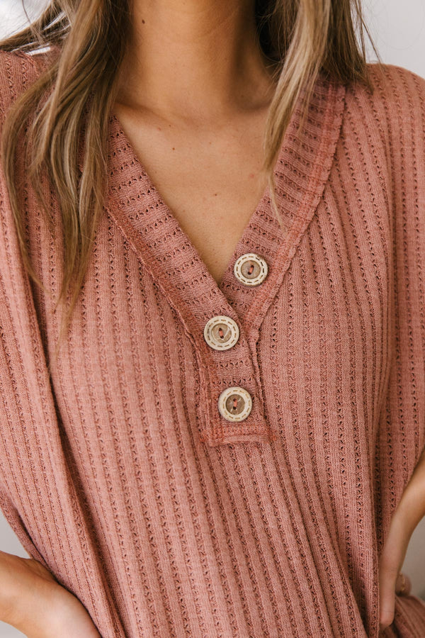Sweet Surrender Top in Mauve