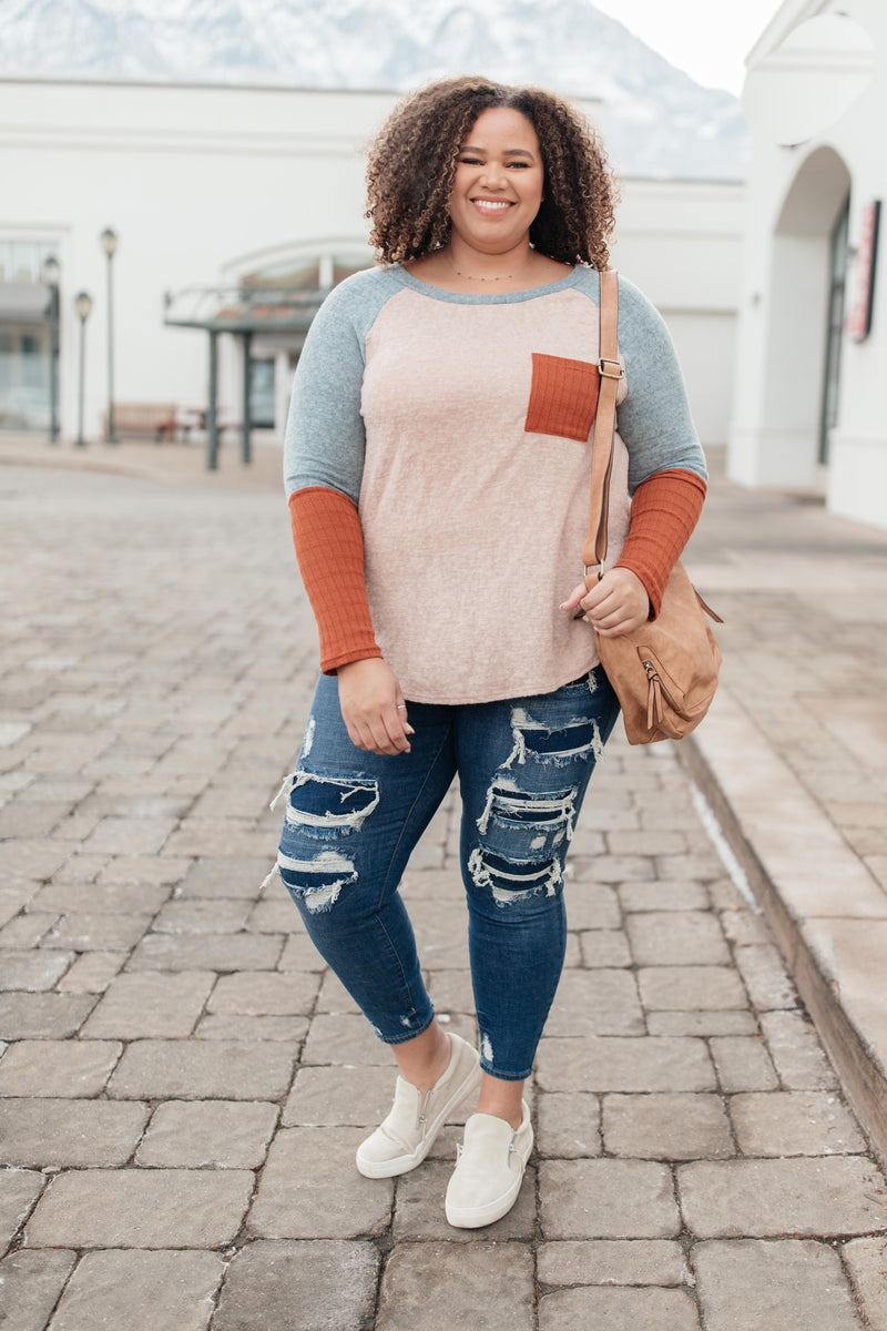 The Age Of Colorblock Top
