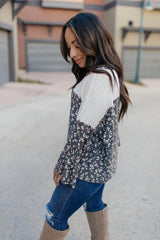 The Knit And Spots Top