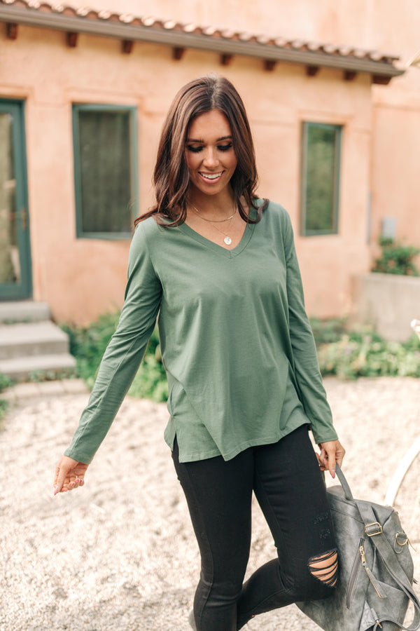 Tiffany Top in Olive