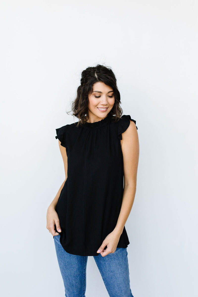 Build Me Up Buttercup Top In Black