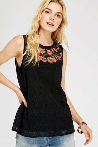 Havana Rose Embroidered Top