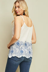 Sunflower Embroidered Cami Top