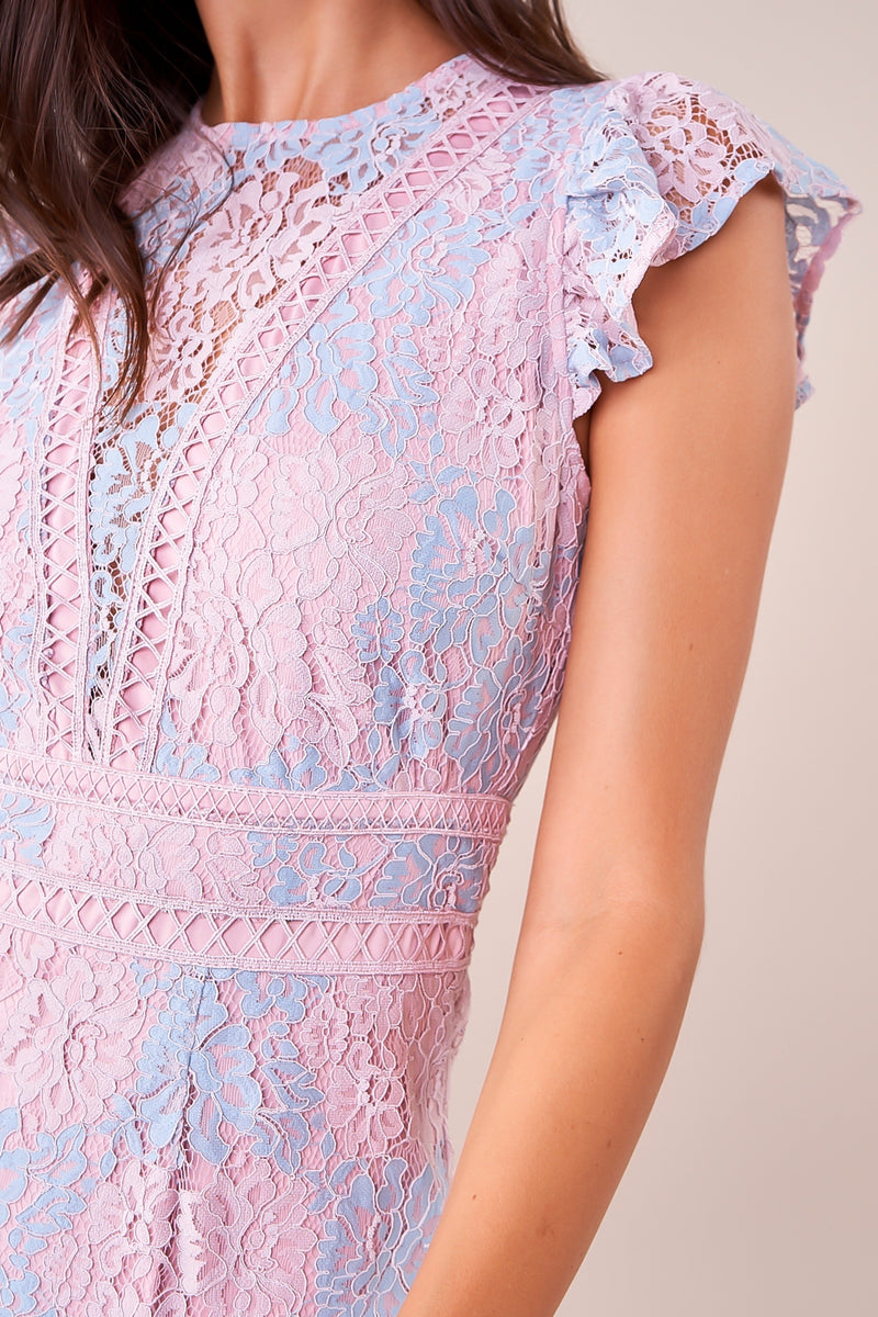 Enchanted To Meet You Mixed Lace Dress