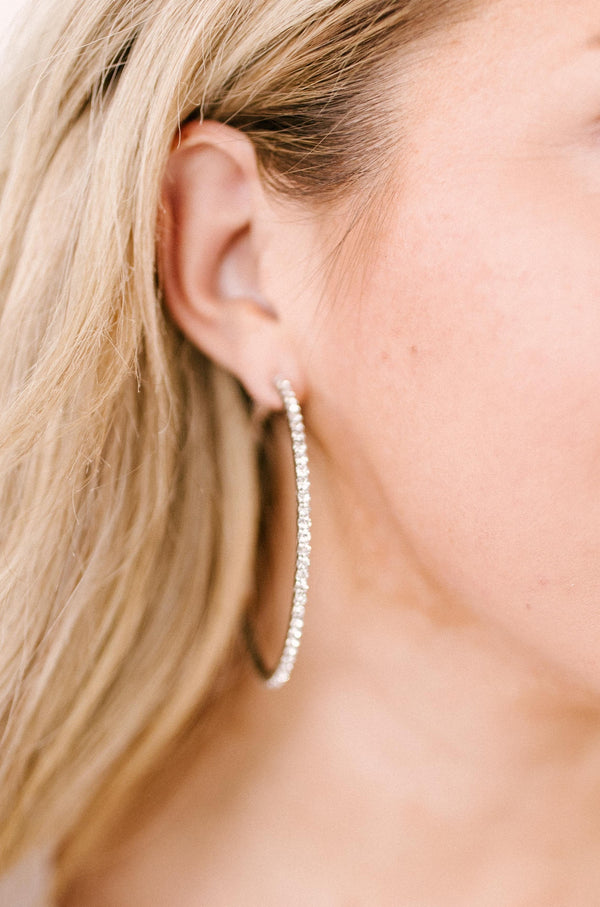 Simple Studded Hoops