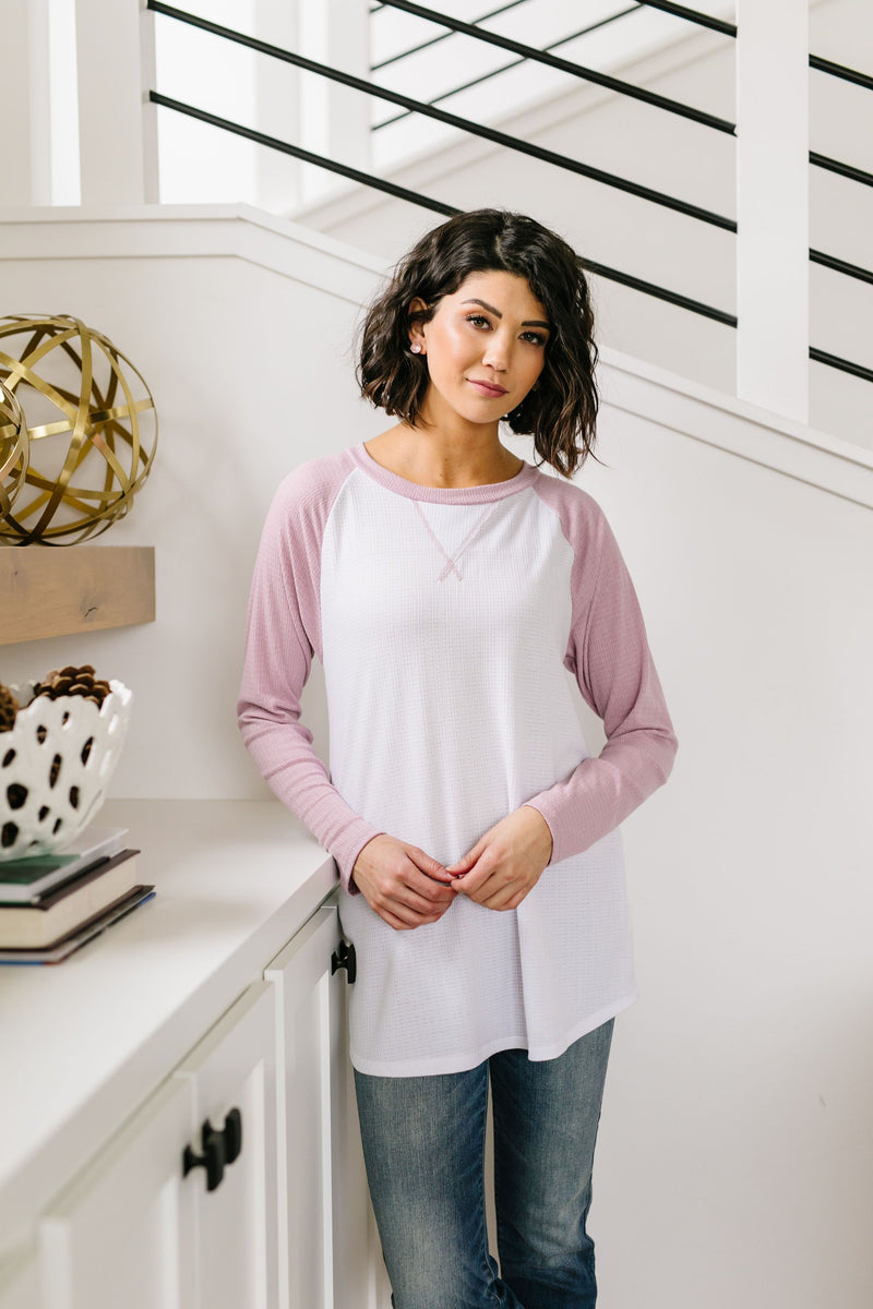 Team Spring Raglan Top In Lilac