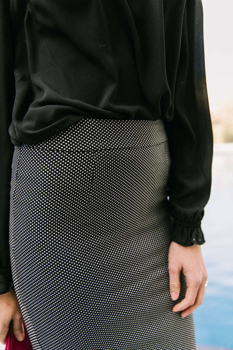 Tiny Dots Pencil Skirt